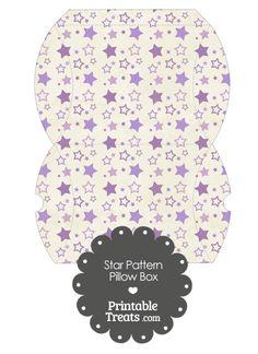 Large Vintage Purple Star Pattern Pillow Box from PrintableTreats.com