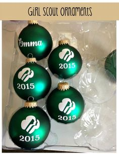 Give the gift of a homemade Girl Scout ornament to your troop or daughter. This project was made using a Silhouette machine. This ornament is perfect for Christmas.