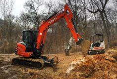 This Kubota Excavator is a beast. #Kubota #kubotaexcavator
