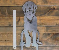 Animal Shelter, Animal Rescue, Golden Retriever Gifts, Golden Retrievers, Weathering Steel, Mythical Creatures Art, Fence Art, Dog Silhouette, Decorative Panels