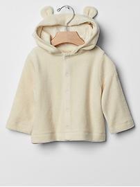 Organic terry bear hoodie