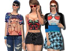 Blue Graphic Collection by Pinkzombiecupcakes at TSR • Sims 4 Updates