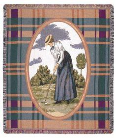 Lady Golfer Tapestry Throw, $30.00