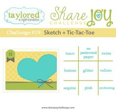 I hope you are having a wonderful Thursday! Today we have Share Joy Challenge 19 - a sketch and tic-tac-toe challenge but bef. Scrapbook Patterns, Scrapbook Sketches, Card Sketches, Scrapbook Cards, Expression Challenge, Simply Stamps, Cricut Cards, Tic Tac Toe, Card Maker