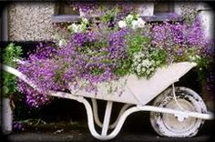 repurpose that old wheel barrow