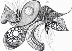 Zentangle...what?  can't wait to try this ...loving the texture and organized chaos of it all!