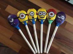 Minion Wooden spoon puppets - search PipsqueakBugoo's on Facebook