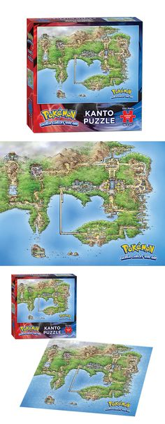 "Pokemon™ Kanto Puzzle  Piece together a bit of the wonderful world of Pokémon. This 550-piece puzzle showcases a regional map of Kanto.  550 Pieces | 18"" x 24"" Finished Size 