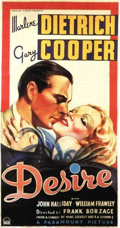'Desire' 1936, Marlene Dietrich & Gary Cooper