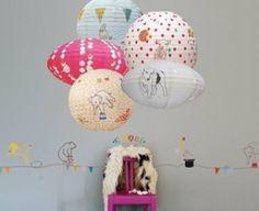 Lámparas infantiles de papel