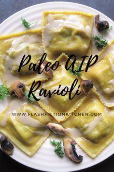 Mushroom Ravioli (paleo, AIP, vegan)