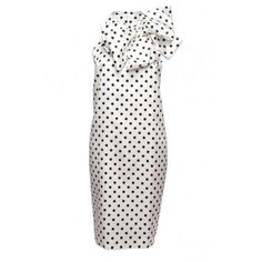 Polka Dot Bow Dress by Prabal Gurung. The racer back cut is unexpected.
