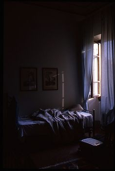 Light filtering through the window. A bed that speaks of events that transpired in the night.