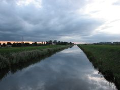 A Fenland Drain, Old River Nene near March.