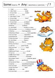 English worksheet: SOME ANY kids - 35 sentences with some and any pracise :)