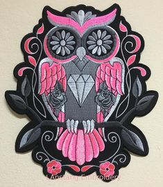 "Pink White YIN YANG Heart 3-1//2/"" Embroidery Iron-on Custom Patch E4"