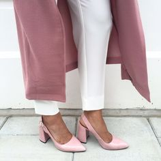Block heels and patent details will bring shoes right up to date. This pair comes with a soft pointed toe and an adjustable slingback buckle fastening. Features a padded sole for additional comfort. #Topshop