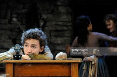 Robert Sheehan as Christopher Mahon, Niamh Cusack as Widow Quin and Ruth Negga as Pegeen Mike in John Millington Synge's 'The Playboy of the Western World' at the Old Vic in London.