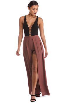 Mauve Show Me Shmaxi Skirt