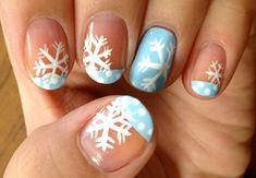 Snowflake Nails holiday nails, nailart, nail designs, snowflakes, snowflak nail, nail arts, winter nails, nail idea, christma