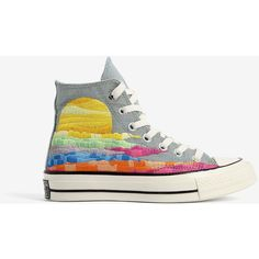Converse All Star Converse All Star Chuck Taylor All Star 70 X Mara... ($113) ❤ liked on Polyvore featuring shoes, sneakers, multicolor, multi color shoes, star sneakers, converse trainers, converse shoes and multicolor sneakers