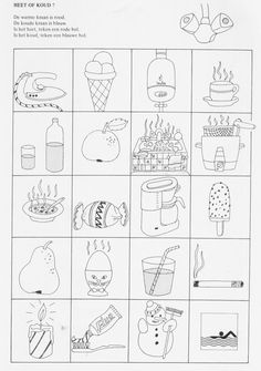warm of koud Restaurant Themes, Pediatric Occupational Therapy, Winter Project, Educational Activities, Doodle Art, Homeschool, Warm, Seasons, Teaching