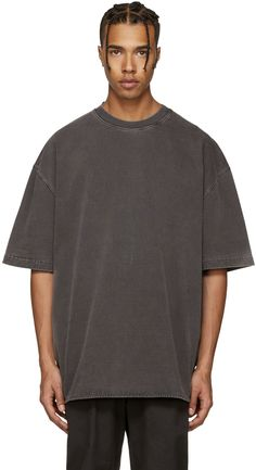 Yeezy Grey Rugby Knit T-shirt Baggy Shirts, Cool Shirts, Casual Shirts, Best Mens Fashion, Look Fashion, Yeezy Season, Season 3, Yeezy Outfit, Hipster Outfits Men