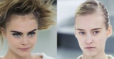 Chanel hair & make-up Spring 2014. Haute Couture.