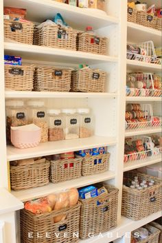 Eleven Gables Butler's Pantry~Love the paper snack tray idea, right there in front of snacks, so kids don't leave droppings everywhere!