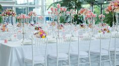 Wedding party. Table Decoratio in coral and white colors. Gorgeous. Decoration By Fiorelli Wedding creator www.fiorellicatania.it