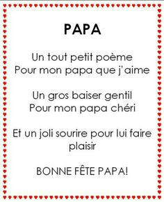 Poeme papa sitation pinterest recherche - Toute la cuisine que j aime ...