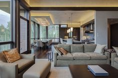 Contemporary residential architecture in Aspen - living room