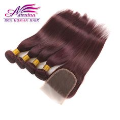 Best Mongolian Straight Virgin Hair With Closure Burgundy Human Hair With Closure 99J Red Wine Hair Weave 4 Bundles With Closure http://jadeshair.com/best-mongolian-straight-virgin-hair-with-closure-burgundy-human-hair-with-closure-99j-red-wine-hair-weave-4-bundles-with-closure/ #HairWeftClosure(Bang)