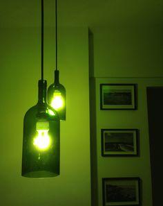 Resultado de imagem para luminaria de garrafa
