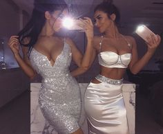 Feditch 2017 Women Bodycon Sexy Backless Vestidos Crop Top Two Piece Dress Slash Neck Spaghetti Strap Club Beach Party Dresses Gala Dresses, Sexy Dresses, Cute Dresses, Fashion Dresses, Black Evening Dresses, Party Dresses, Glamouröse Outfits, Night Outfits, Outfit Night