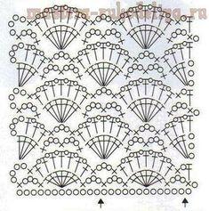 VK mobile version - Her Crochet Crochet Stitches Chart, Crochet Motifs, Crochet Diagram, Knit Crochet, Crochet Patterns, Crochet Instructions, Beautiful Crochet, Crochet Clothes, Crochet Projects
