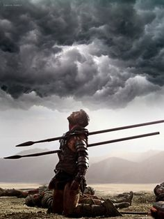 m Fighter Plate Armor Last Moment Storm Clouds Farmland Battle story Spartacus Liam McIntyre lg Spartacus Quotes, Spartacus Tv Series, Medieval Knight, Medieval Fantasy, Christus Tattoo, Spartacus Blood And Sand, Character Art, Fantasy Art, Spartacus Workout