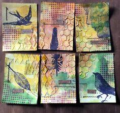 lerusho - ATC / ACEO inspiration - collages / art bird theme