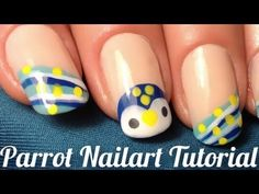 """Nailart Tutorial: """"How to do a blue parrot naildesign for summer"""""""