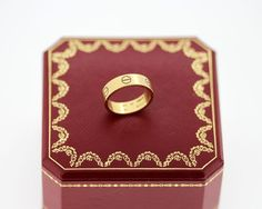 "Currently at the #Catawiki auctions: Cartier -  ""Love"" 18K Gold Ring - Size UK :P US:8 EU :56 1/4"