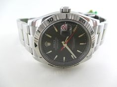 ROLEX WATCH GENTS STAINLESS STEEL OYSTER PERPETUAL DATE DATEJUST WRISTWATCH #Rolex