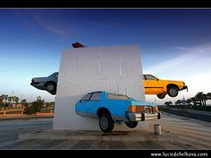 """The Accident"""" - Roundabout Art in Jeddah, Saudi Arabia"""