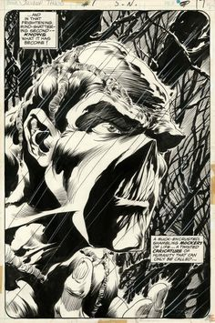 Swamp Thing #1 Splash by Berni Wrightson