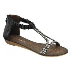 AMPLY-2 Women Ankle/T Strap Sandal - Black