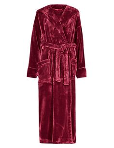 Hooded Luxury Dressing Gown | M&S