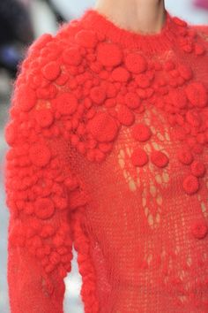 delpozo look 20 detail aw2014 knitted 3d textile art couture unusual yet elegant style fashion knitwear fashion inspiration