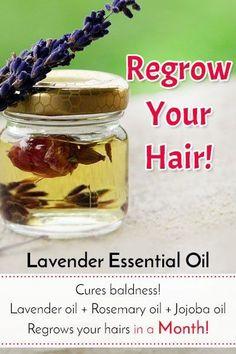 Lavender Oil for Hair Regrowth #regrowhair