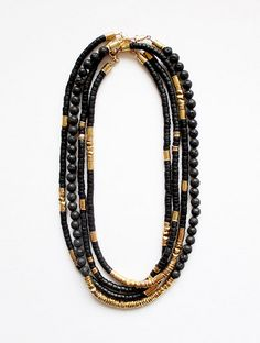 African beads and metallics sounds cute!
