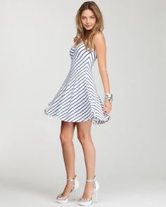 Diagonal Stripe Jersey Dress. Nice!