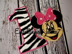 Girl mouse number one iron on patch Choose by EmbellishmentJunkies, $7.75